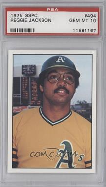 1976 SSPC - [Base] #494 - Reggie Jackson [PSA10]