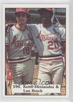 Keith Hernandez, Lou Brock