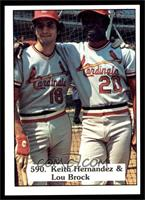 Keith Hernandez, Lou Brock [NM MT]