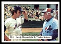 Jerry Koosman, Duke Snider [NM MT]