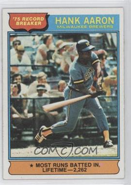 1976 Topps - [Base] #1 - Hank Aaron