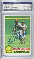 Lou Brock [PSA/DNA Certified Encased]