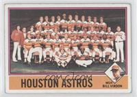 Houston Astros Team, Bill Virdon [GoodtoVG‑EX]