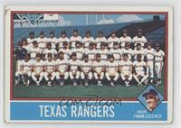 Texas Rangers Team, Frank Luchessi [GoodtoVG‑EX]