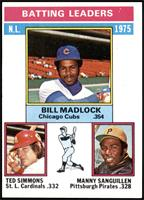 Bill Madlock, Ted Simmons, Manny Sanguillen [NM]