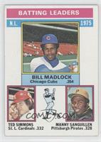 Bill Madlock, Ted Simmons, Manny Sanguillen [GoodtoVG‑EX]