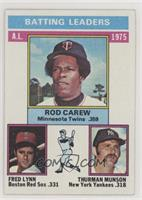 Rod Carew, Fred Lynn, Thurman Munson [Good to VG‑EX]