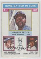 George Scott, John Mayberry, Fred Lynn [Poor to Fair]