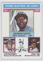 George Scott, John Mayberry, Fred Lynn [Good to VG‑EX]