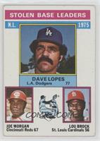 Davey Lopes, Lou Brock, Joe Morgan [Good to VG‑EX]