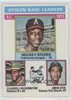 A.L. Stolen Base Leaders(Mickey Rivers, Claudell Washington, Amos Otis)