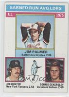 1975 AL ERA Leaders (Jim Palmer, Jim Hunter, Dennis Eckersley) [Poor to&nb…
