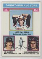 1975 AL ERA Leaders (Jim Palmer, Jim Hunter, Dennis Eckersley)
