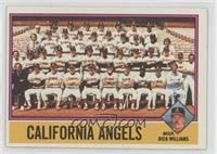 California Angels Team Checklist (Dick Williams)