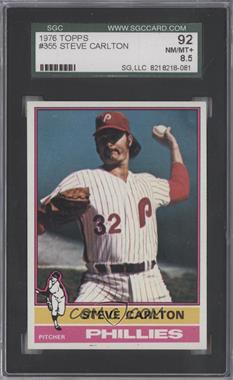 1976 Topps - [Base] #355 - Steve Carlton [SGC92]