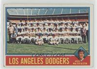 Los Angeles Dodgers Team, Walt Alston [Poor to Fair]