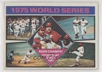 1975 World Series Reds Champs! [GoodtoVG‑EX]