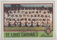 St. Louis Cardinals Team, Red Schoendienst [Good to VG‑EX]