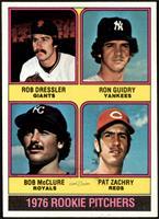 1976 Rookie Pitchers (Rob Dressler, Ron Guidry, Bob McClure, Pat Zachry) [NM+]
