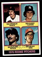 1976 Rookie Pitchers (Rob Dressler, Ron Guidry, Bob McClure, Pat Zachry) [EX&nb…