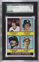 1976 Rookie Pitchers (Rob Dressler, Ron Guidry, Bob McClure, Pat Zachry) [SGC&n…
