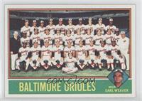 Baltimore Orioles Team, Earl Weaver