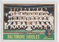 Baltimore Orioles Team, Earl Weaver