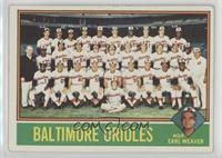 Baltimore Orioles Team, Earl Weaver [Good to VG‑EX]