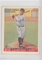 Babe Ruth (1933 Goudey 144)