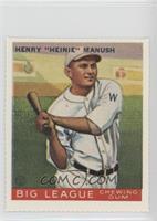 Heinie Manush (1933 Goudey)