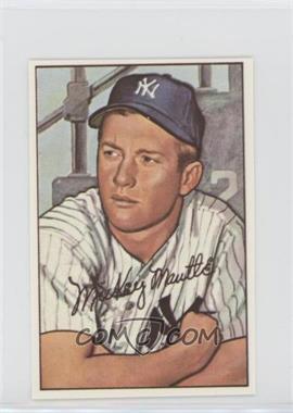 1977 Dover Classic Baseball Cards Reprints - [Base] #MIMA.1 - Mickey Mantle (1952 Bowman)