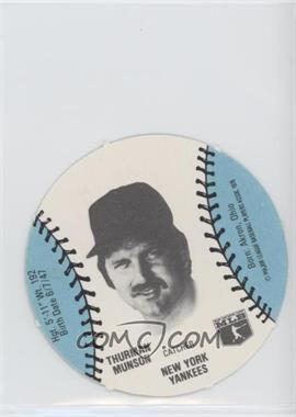 1977 MSA Discs - [Base] - Burger Chef #THMU - Thurman Munson