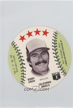 1977 MSA Discs - [Base] - Detroit Caesars Slo-Pitch #BOGR - Bobby Grich