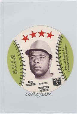 1977 MSA Discs - [Base] - Detroit Caesars Slo-Pitch #BOWA - Bob Watson
