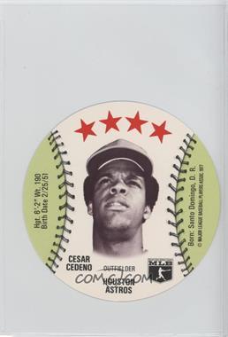 1977 MSA Discs - [Base] - Detroit Caesars Slo-Pitch #CECE - Cesar Cedeno