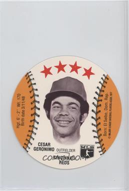 1977 MSA Discs - [Base] - Detroit Caesars Slo-Pitch #CEGE - Cesar Geronimo