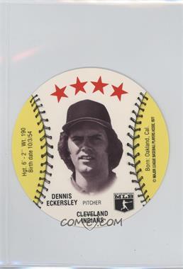 1977 MSA Discs - [Base] - Detroit Caesars Slo-Pitch #DEEC - Dennis Eckersley