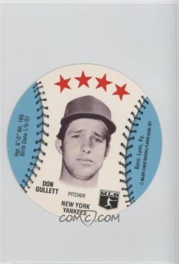 1977 MSA Discs - [Base] - Detroit Caesars Slo-Pitch #DOGU - Don Gullett