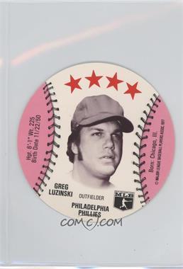 1977 MSA Discs - [Base] - Detroit Caesars Slo-Pitch #GRLU - Greg Luzinski
