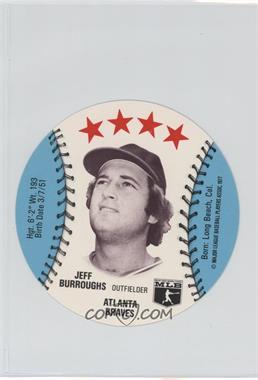 1977 MSA Discs - [Base] - Detroit Caesars Slo-Pitch #JEBU - Jeff Burroughs