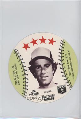 1977 MSA Discs - [Base] - Detroit Caesars Slo-Pitch #JIPA - Jim Palmer