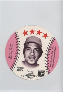 1977 MSA Discs - [Base] - Detroit Caesars Slo-Pitch #JOBE - Johnny Bench