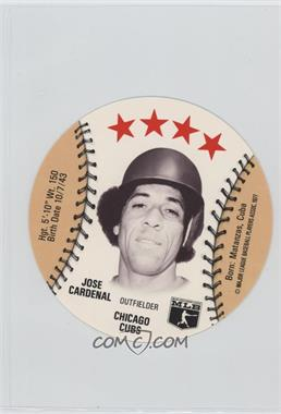1977 MSA Discs - [Base] - Detroit Caesars Slo-Pitch #JOCA.2 - Jose Cardenal