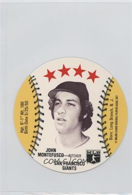 1977 MSA Discs - [Base] - Detroit Caesars Slo-Pitch #JOMO.1 - John Montefusco