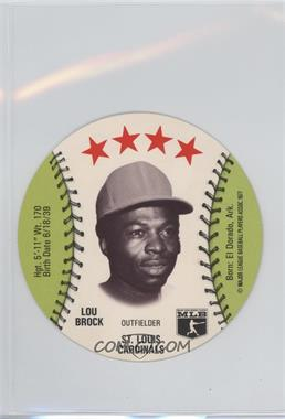 1977 MSA Discs - [Base] - Detroit Caesars Slo-Pitch #LOBR - Lou Brock