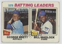1976 Batting Leaders - George Brett, Bill Madlock [Poor to Fair]
