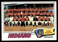 Cleveland Indians Team, Frank Robinson [NM]