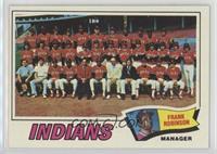 Cleveland Indians Team, Frank Robinson