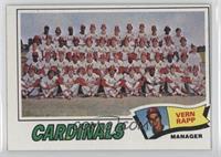 St. Louis Cardinals Team Checklist (Vern Rapp)