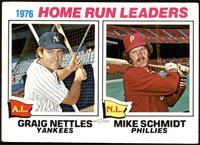 1976 Home Run Leaders(Graig Nettles, Mike Schmidt) [VGEX]